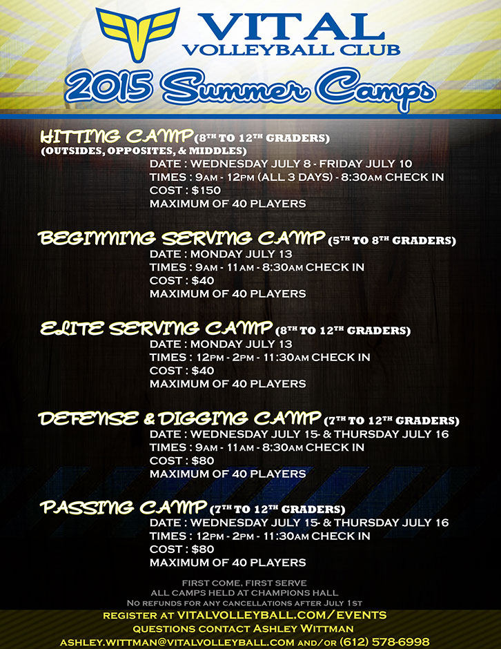 2015 VVC Summer Programs flyer