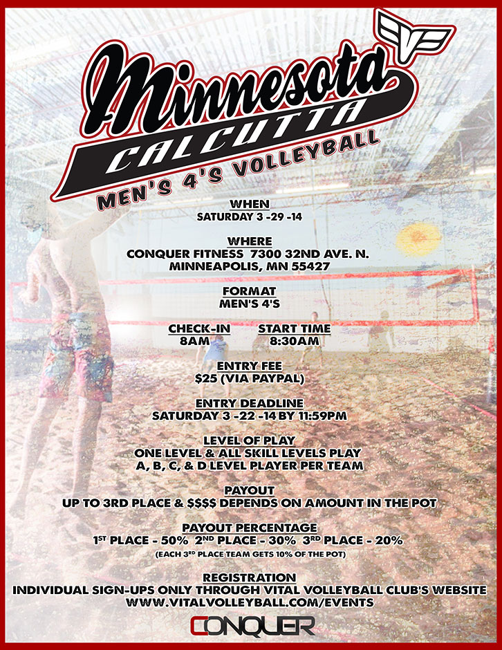 Minnesota Calcutta Men's 4's Volleyball